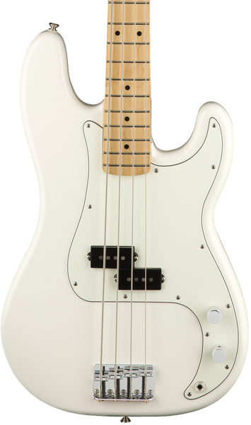 FENDER PLAYER - PRECISION BASS MAPLE NECK OLYMPIC WHITE