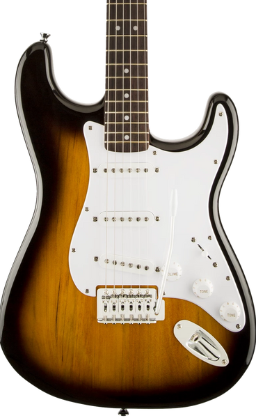 SQUIER BULLET STRAT - LAUREL FINGERBOARD WITH TREMOLO BROWN SUNBURST