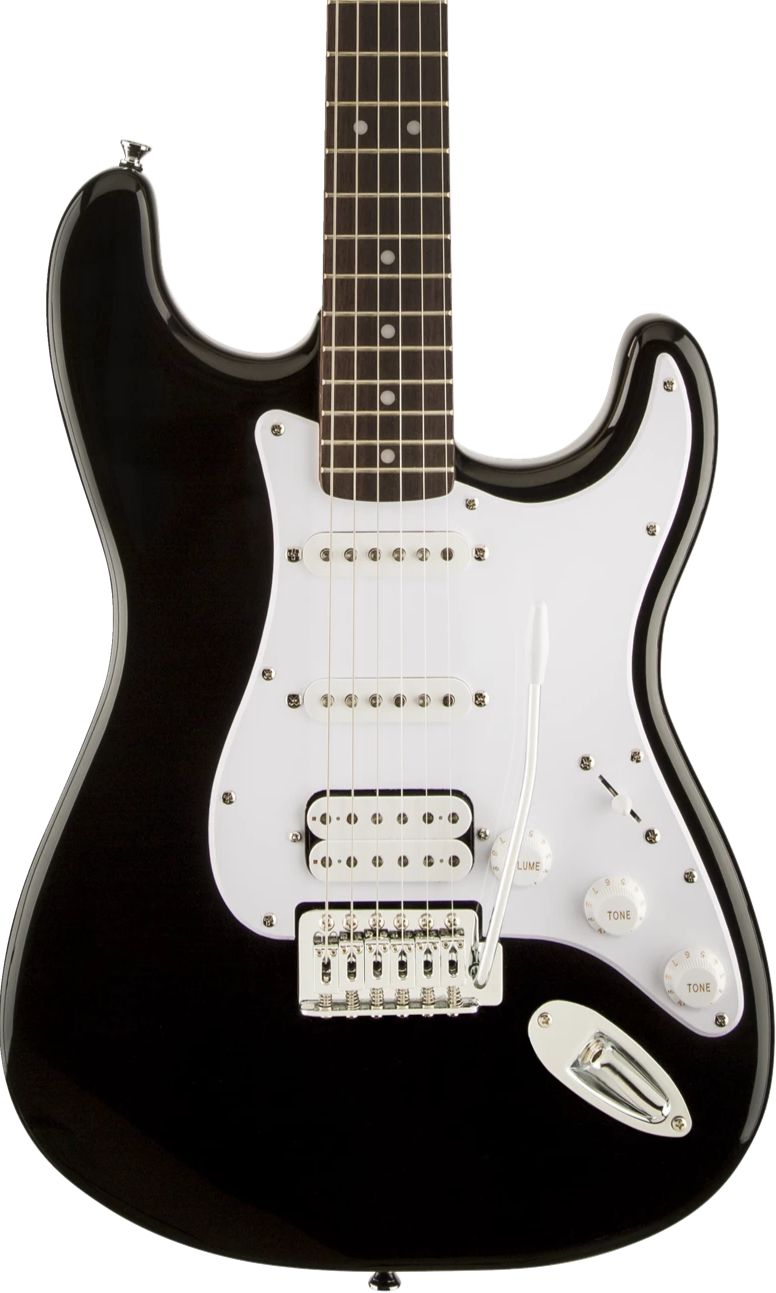 SQUIER BULLET SERIES STRAT - HSS LAUREL FINGERBOARD BLACK