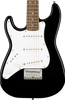 SQUIER MINI STRAT 3/4 ELECTRIC - BLACK LEFT-HANDED
