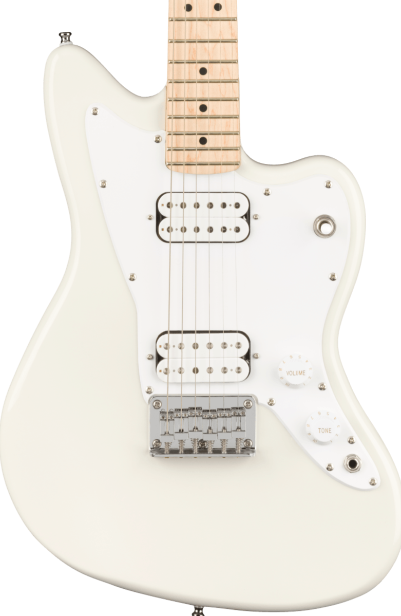 SQUIER MINI JAZZMASTER HH MAPLE NECK - OLYMPIC WHITE