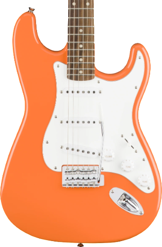 SQUIER AFFINITY SERIES STRAT - LAUREL FB COMPETITION ORANGE
