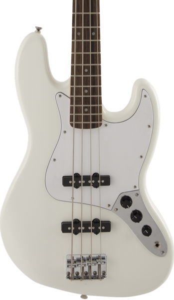 SQUIER FSR AFFINITY SERIES JAZZ BASS - OLYMPIC WHITE