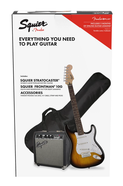 SQUIER STRAT PACK 10G FRONTMAN - BROWN SUNBURST
