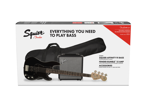 SQUIER AFFINITY SERIES PJ BASS PACK R15 - BLACK