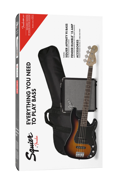 SQUIER AFFINITY SERIES PJ BASS PACK R15 - BROWN SUNBURST