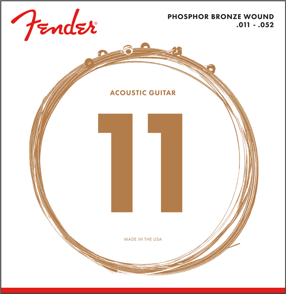 FENDER PHOSPHOR BRONZE ACOUSTIC GUITAR STRINGS - 11-52