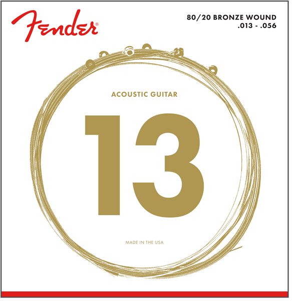 FENDER 80/20 BRONZE ACOUSTIC STRINGS - 13-56