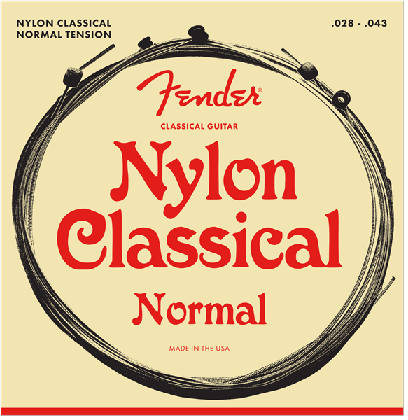 FENDER CLASSICAL/NYLON STRINGS NORMAL TENSION - BALL END