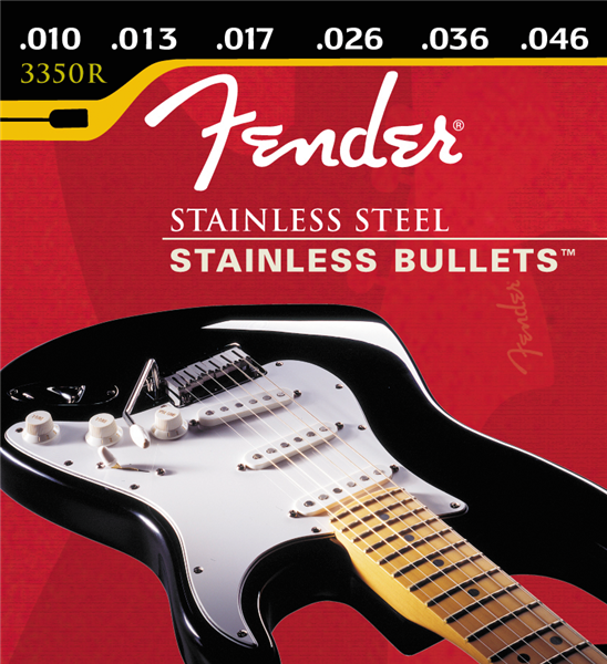 FENDER STAINLESS BULLETS STAINLESS STEEL ELECTRIC STRINGS - 10-46