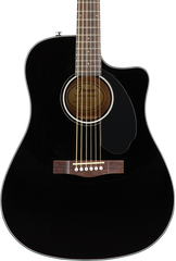 FENDER CD-60SCE - SOLID TOP DREADNOUGHT BLACK
