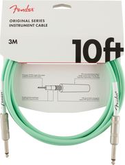 FENDER ORIGINAL SERIES INSTRUMENT CABLE 10FT - RED/BLUE/GREEN