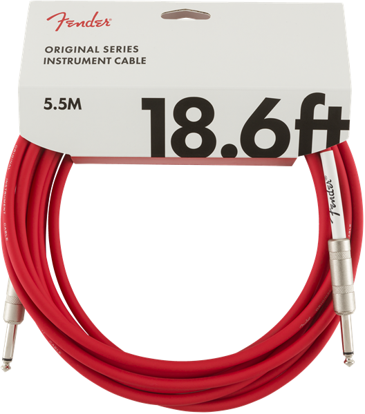 FENDER ORIGINAL SERIES INSTRUMENT CABLE 18.6FT - FIESTA RED