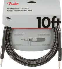 FENDER PRO INSTRUMENT BRAIDED CABLE 10FT - STRAIGHT TO STRAIGHT GRAY TWEED