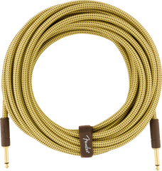 FENDER 25FT DELUXE INSTRUMENT CABLE - TWEED