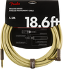 FENDER DELUXE INSTRUMENT CABLE 18.6FT - STRAIGHT TO RIGHT ANGLE TWEED