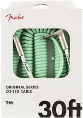 FENDER ORIGINAL SERIES COILED CABLE 30FT - RED/BLUE/GREEN