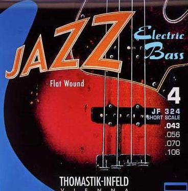 THOMASTIK JAZZ ELECTRIC BASS STRINGS - FLAT WOUND SHORT SCALE