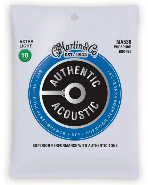 MARTIN AUTHENTIC ACOUSTIC PHOSPHOR BRONZE - EXTRA LIGHT 10 - 47