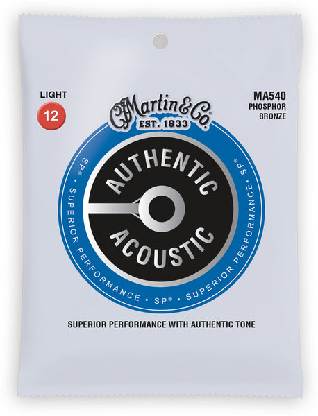 MARTIN AUTHENTIC ACOUSTIC PHOSPHOR BRONZE - LIGHT 12 - 54