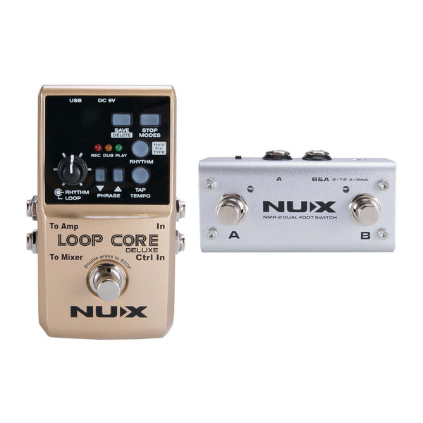 NU-X LOOP CORE DELUXE 24 BIT LOOPER STATION BUNDLE