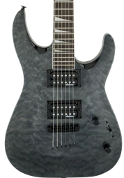 Jackson JS32TQ DKA Dinky Arch Top Transparent Black Amaranth