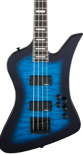 JACKSON KELLY BIRD BASS JS3Q - TRANSPARENT BLUE BURST