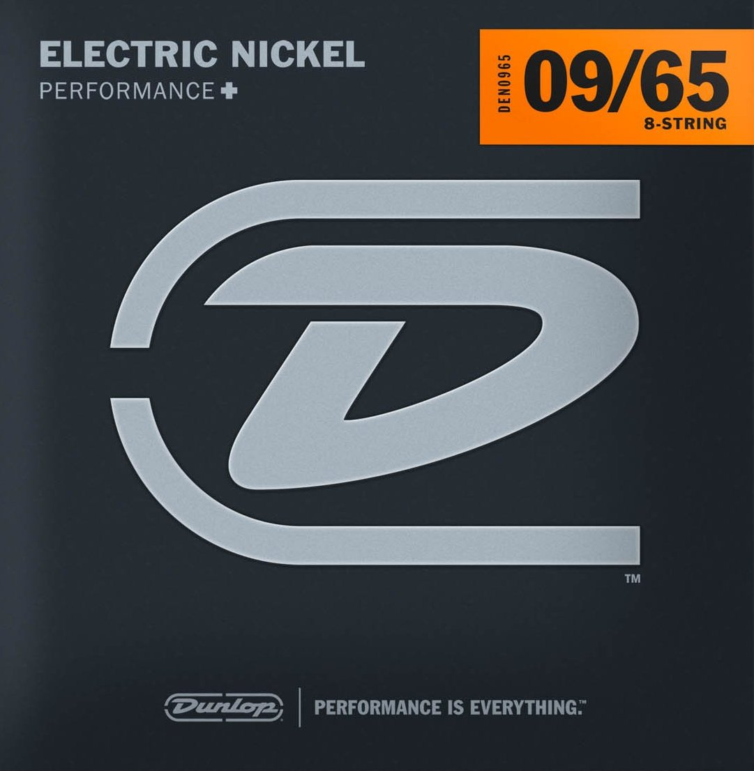 DUNLOP NICKEL WOUND ELECTRIC STRINGS - 8-STRING 9-65