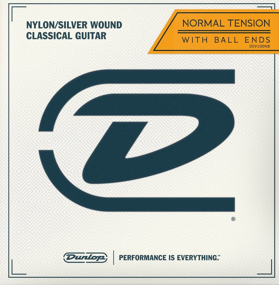 DUNLOP CLASSICAL NYLON/SILVERWOUND BALL END - NORMAL TENSION