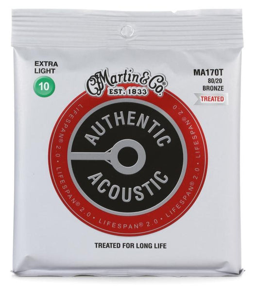 MARTIN AUTHENTIC ACOUSTIC LIFESPAN PHOSPHOR BRONZE - EXTRA LIGHT 10 - 47
