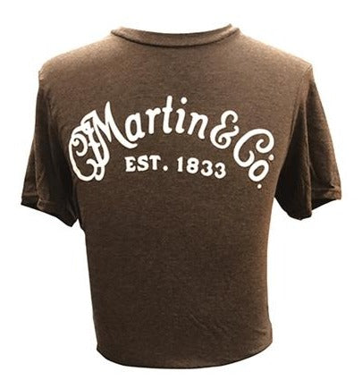 MARTIN & CO LOGO T-SHIRT HEATHER BROWN - S/L/XL/XXL