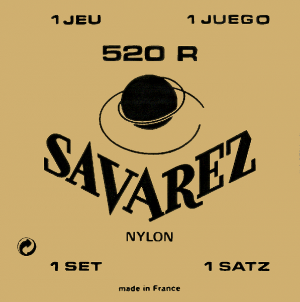 SAVAREZ CLASSICAL GUITAR STRINGS NYLON 520R - RED CARD - HIGH TENSION