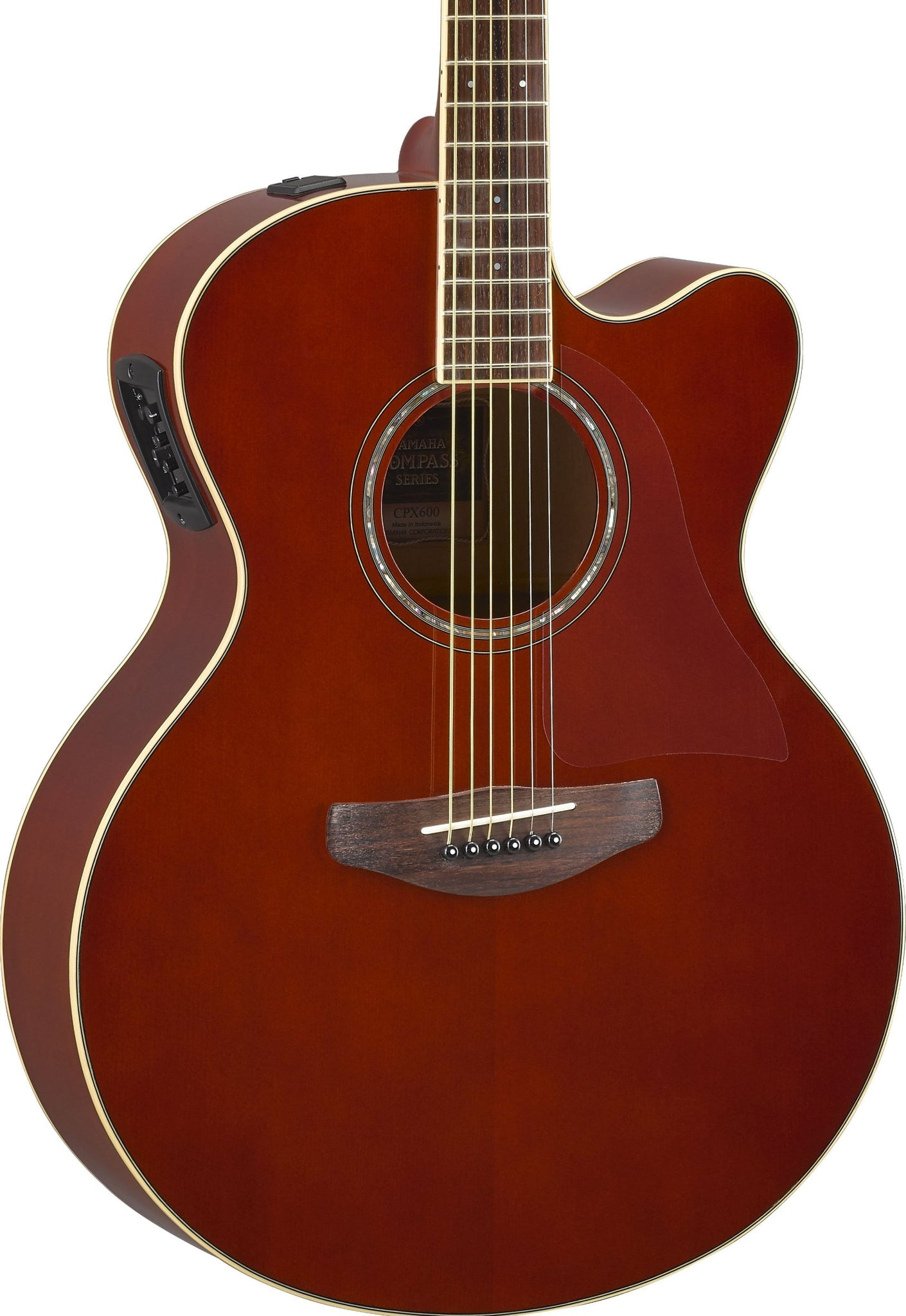YAMAHA CPX600 - ACOUSTIC GUITAR WITH PICKUP ROOT BEER