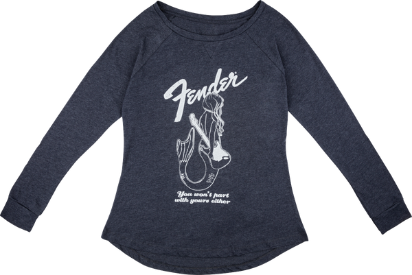 FENDER MERMAID WOMEN'S LONG SLEEVE SHIRT NAVY - SMALL/LARGE