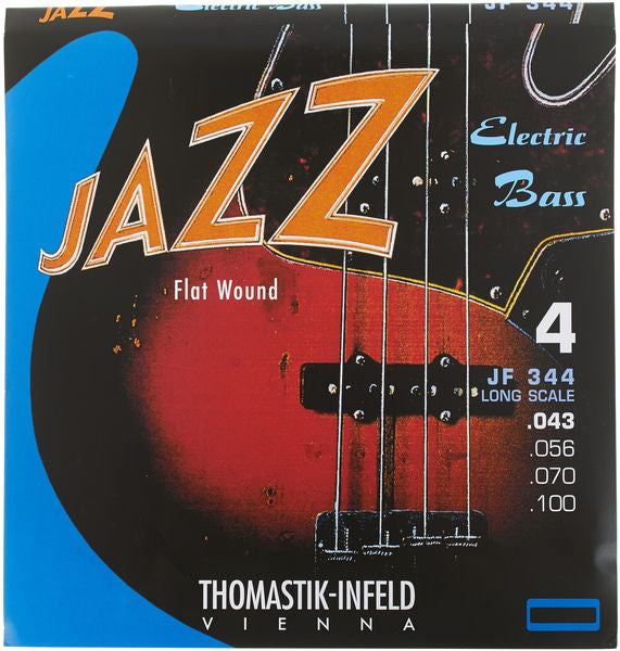 THOMASTIK JAZZ ELECTRIC BASS STRINGS - FLAT WOUND LONG SCALE