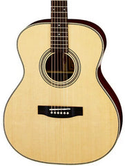 ARIA AR501 - ALL SOLID OM SPRUCE MAHOGANY ACOUSTIC WITH CASE