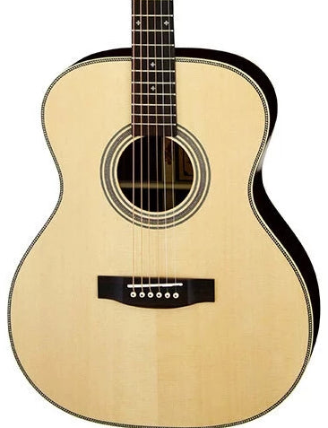 ARIA AR505 - ALL SOLID OM SPRUCE ROSEWOOD ACOUSTIC WITH CASE