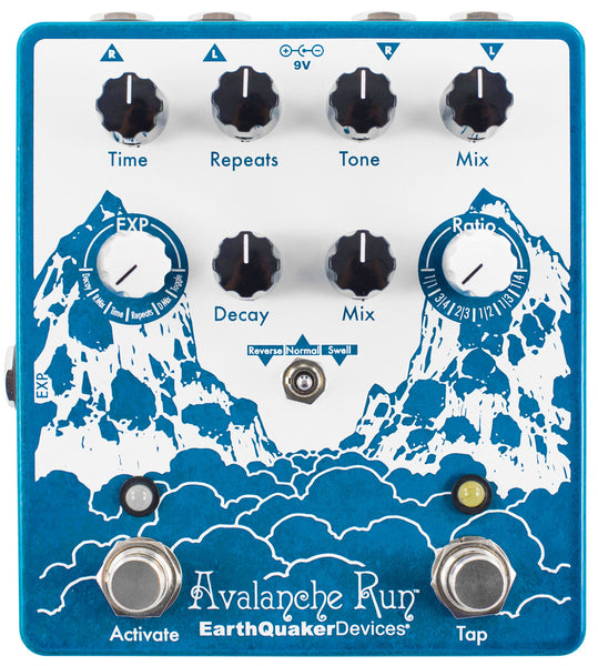 EARTHQUAKER DEVICES AVALANCHE RUN STEREO REVERB & DELAY