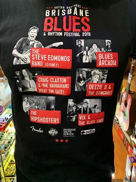 BRISBANE BLUES AND RHYTHM FESTIVAL TEE-SHIRT