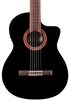 CORDOBA C5-CET BLACK - THINLINE SOLID CEDAR TOP CLASSICAL W/ PICKUP