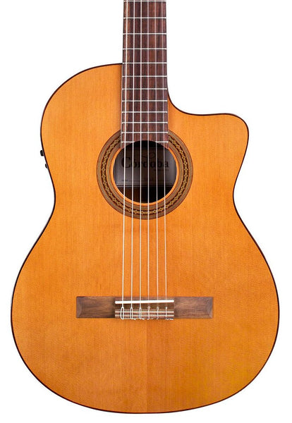 CORDOBA C5-CET - SOLID CEDAR TOP THINLINE CLASSICAL W/PICKUP