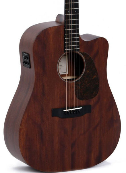 SIGMA DMC-15E+ ALL MAHOGANY DREADNOUGHT W/ CUTAWAY AND PICKUP