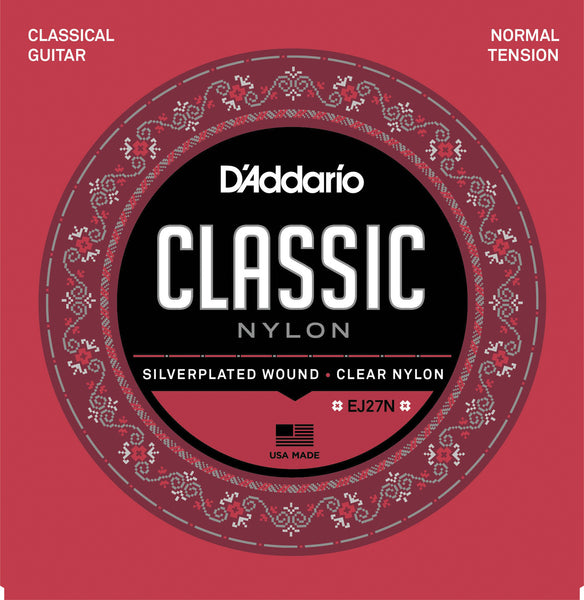 D'ADDARIO EJ27N - STUDENT NYLON GUITAR STRINGS - NORMAL TENSION