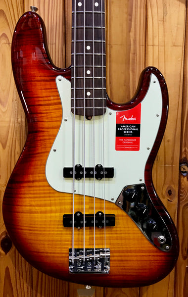 FENDER LTD EDITION AMERICAN PRO JAZZ BASS -FLAME MAPLE TOP