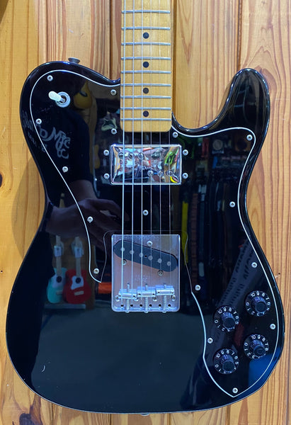 FENDER MIJ '72 TELE CUSTOM - BLACK PRE-LOVED