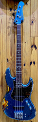 XOTIC XJ-1T 4-STRING JAZZ BASS - LAKE PLACID BLUE OVER 3TS - HEAVY RELIC #1973