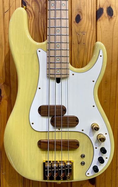 XOTIC XPJ-1T 4-STRING P/J BASS - YELLOW BLONDE MN #061