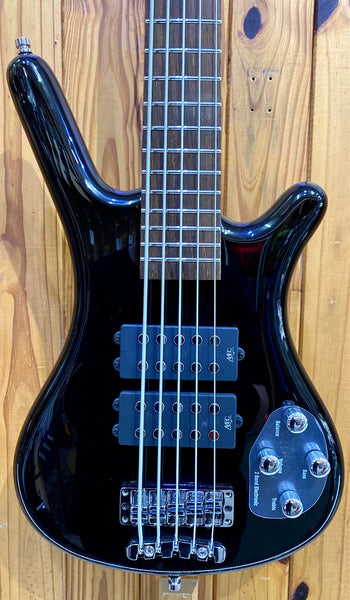 WARWICK ROCKBASS CORVETTE 5-STRING BASS - BLACK HIGH POLISH