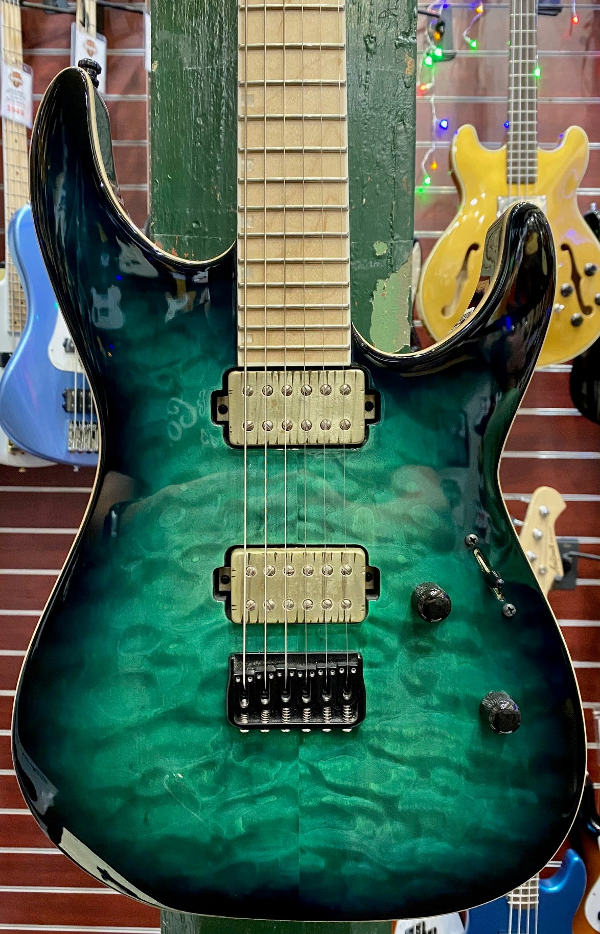ESP E-II M-II NT MAMPLE NECK - TURQUOISE BURST PRE-LOVED