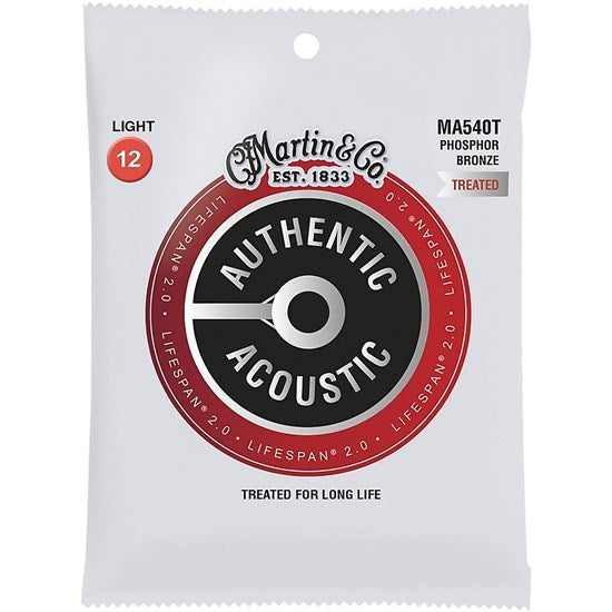 MARTIN AUTHENTIC ACOUSTIC LIFESPAN PHOSPHOR BRONZE - LIGHT 12 - 54